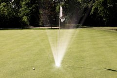 Μεταφορά τρυπών γκολφ Στοκ εικόνα με δικαίωμα ελεύθερης χρήσης