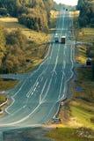 Μεταφορά 123 φορτηγών οδικών εθνικών οδών τοπίων Στοκ Εικόνες