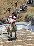 Μεταφορά Santorini Στοκ Εικόνα