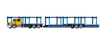 Μεταφορέας αυτοκινήτων με το ρυμουλκό ελεύθερη απεικόνιση δικαιώματος