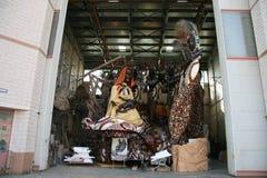 Μεταφορές αλληγορίας καρναβαλιού Viareggio στοκ εικόνα