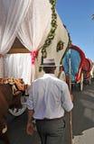 Μεταφορές του προσκυνήματος της EL Rocio στοκ εικόνες