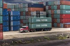 Μεταφορικά κιβώτια της Κίνας στη βοτανική λιμένων Στοκ Φωτογραφίες