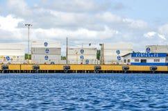 Μεταφορικά κιβώτια Chiquita στο λιμένα Almirante, Pana Στοκ εικόνες με δικαίωμα ελεύθερης χρήσης