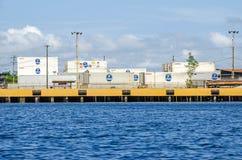 Μεταφορικά κιβώτια Chiquita στο λιμένα Almirante, Pana Στοκ φωτογραφία με δικαίωμα ελεύθερης χρήσης
