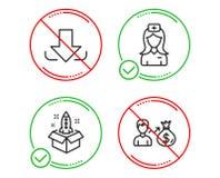 Μεταφορτώστε, νοσοκόμα νοσοκομείων και εικονίδια ξεκινήματος καθορισμένες Σημάδι Sallary Αρχείο φορτίων, ιατρικός βοηθός, καινοτο ελεύθερη απεικόνιση δικαιώματος
