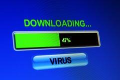 Μεταφορτώστε τον ιό Στοκ εικόνες με δικαίωμα ελεύθερης χρήσης