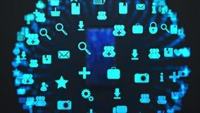 Μεταφορτώστε apps στο smartphone απεικόνιση αποθεμάτων