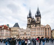 μεταφορών τσεχική συρμένη τετραγωνική πόλη δημοκρατιών της Πράγας αλόγων παλαιά Στοκ Εικόνα