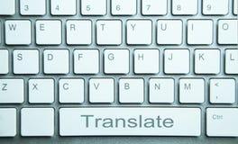 Μεταφράστε το κουμπί στο πληκτρολόγιο υπολογιστών Σε απευθείας σύνδεση μετάφραση servic στοκ εικόνα με δικαίωμα ελεύθερης χρήσης