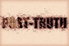 Μετα-αλήθεια ή μετα-πραγματική έννοια Στοκ Φωτογραφίες
