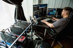 Μεταλλεία προγραμματιστών bitcoin Στοκ φωτογραφίες με δικαίωμα ελεύθερης χρήσης