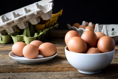 Μεταλλικά κουτιά αυγών Στοκ Εικόνες