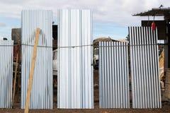 Μεταλλικές χτίζοντας επιτροπές Στοκ Εικόνες
