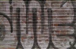 Μεταλλική πόρτα παραθυρόφυλλων κυλίνδρων Στοκ εικόνα με δικαίωμα ελεύθερης χρήσης