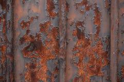 μεταλλική σκουριασμένη σύσταση πυλών Στοκ εικόνα με δικαίωμα ελεύθερης χρήσης