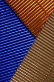 Μεταλλικός ακτινοβολήστε εκλεκτής ποιότητας υπόβαθρο φω'των Μπλε και χρυσός στοκ φωτογραφία