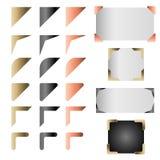 Μεταλλικό διανυσματικό σύνολο γωνιών πλαισίων Στοκ Εικόνα
