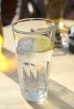 Μεταλλικό νερό με το λεμόνι Στοκ εικόνα με δικαίωμα ελεύθερης χρήσης