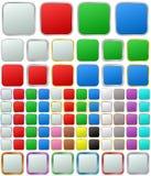 Μεταλλικό στρογγυλευμένο τετραγωνικό σύνολο κουμπιών επιλογής χρωμάτων Στοκ φωτογραφία με δικαίωμα ελεύθερης χρήσης