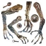 Μεταλλικό χέρι ρομπότ Στοκ Εικόνες