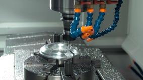 Μεταλλουργική CNC μηχανή άλεσης απόθεμα βίντεο