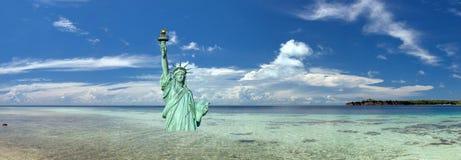 Μετα πυρηνική σκηνή αποκάλυψης της Νέας Υόρκης Στοκ Εικόνες