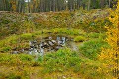 μετεωρίτης κρατήρων Στοκ Εικόνα