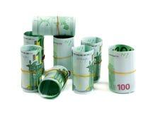 Μετονομασίες, ρόλοι 100 ευρώ Στοκ Φωτογραφίες