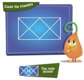 Μετρήστε τα τρίγωνα Στοκ Εικόνες