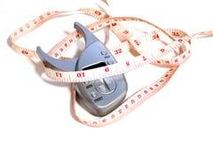 Μετρήστε τα φάρμακα απώλειας μέσης και βάρους Στοκ φωτογραφία με δικαίωμα ελεύθερης χρήσης