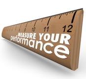 Μετρήστε την αναθεώρηση αξιολόγησης κυβερνητών λέξεων απόδοσής σας απεικόνιση αποθεμάτων