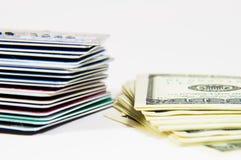 Μετρητά ή πίστωση Στοκ φωτογραφία με δικαίωμα ελεύθερης χρήσης