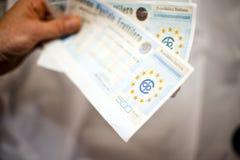 μετρητά Ιταλία δεσμών Στοκ φωτογραφίες με δικαίωμα ελεύθερης χρήσης