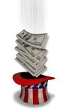 Μετρητά και Αμερική. Στοκ Εικόνα