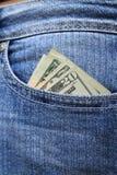 Μετρητά στην τσέπη Στοκ φωτογραφίες με δικαίωμα ελεύθερης χρήσης