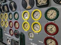 Μετρητές στο αμερικανικό υποβρύχιο Στοκ φωτογραφία με δικαίωμα ελεύθερης χρήσης