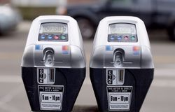 Μετρητές χώρων στάθμευσης Στοκ φωτογραφία με δικαίωμα ελεύθερης χρήσης
