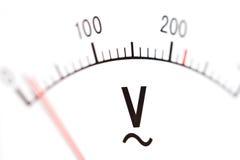 Μετρητής βολτ, μακροεντολή στοκ φωτογραφία