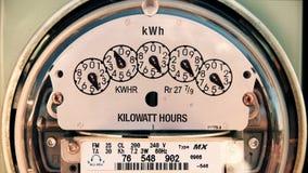 Μετρητής ηλεκτρικής ενέργειας (χρόνος-σφάλμα 4K) ηλεκτρικός απόθεμα βίντεο