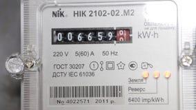 Μετρητής ηλεκτρικής ενέργειας απόθεμα βίντεο