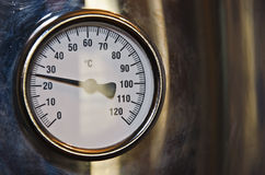 Μετρητής θερμοκρασίας Στοκ Εικόνα