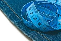 Μετρητής και μπλε τζιν Στοκ φωτογραφία με δικαίωμα ελεύθερης χρήσης