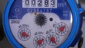 Μετρητής κατανάλωσης νερού οργάνου μέτρησης που χρησιμοποιείται στην υγειονομική εγκατάσταση απόθεμα βίντεο