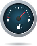 Μετρητής καυσίμων που παρουσιάζει πλήρη δεξαμενή Στοκ Φωτογραφία