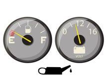 μετρητής καυσίμων Στοκ Εικόνες