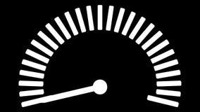 Μετρητής κλιμάκωσης με το μαύρο και κόκκινο λεπτό βέλος τρισδιάστατη απόδοση απεικόνιση αποθεμάτων