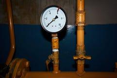 Μετρητής πίεσης στο αγωγό υγραερίου που παρουσιάζει πίεση 0 Στοκ φωτογραφία με δικαίωμα ελεύθερης χρήσης