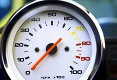 Μετρητής περιστροφής/λεπτό μοτοσικλετών Στοκ Φωτογραφίες