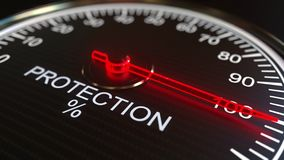 Μετρητής προστασίας ή εννοιολογική ζωτικότητα δεικτών απόθεμα βίντεο